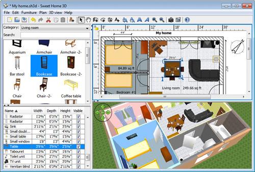Un réamenagement avec le logiciel d'architecture