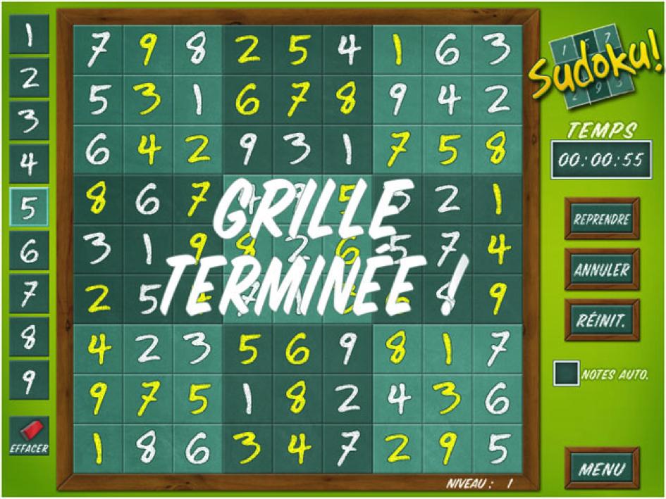 Un programme pour résoudre toutes les grilles de sudoku gratuit