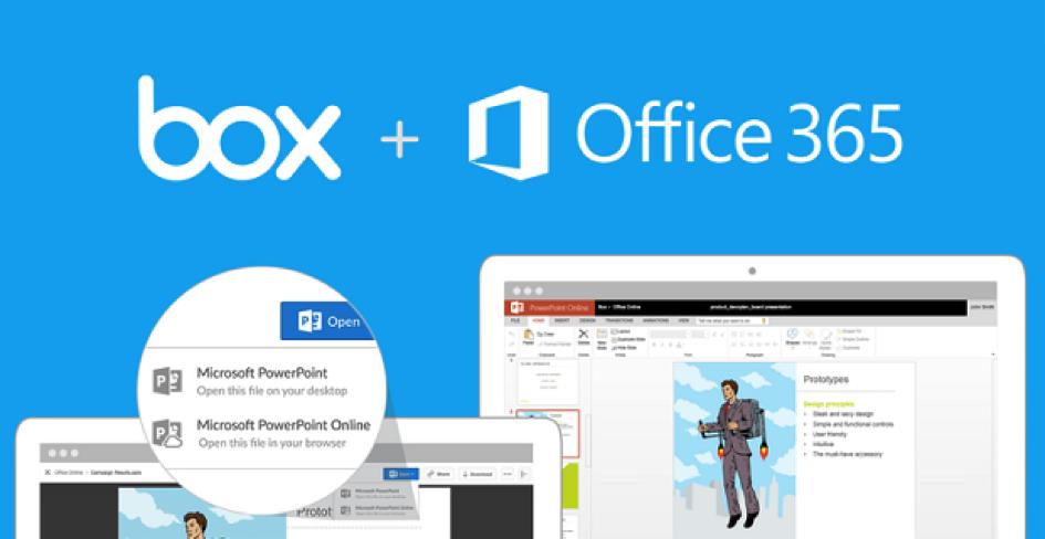 Rapprochement entre Microsoft Office Online et Box