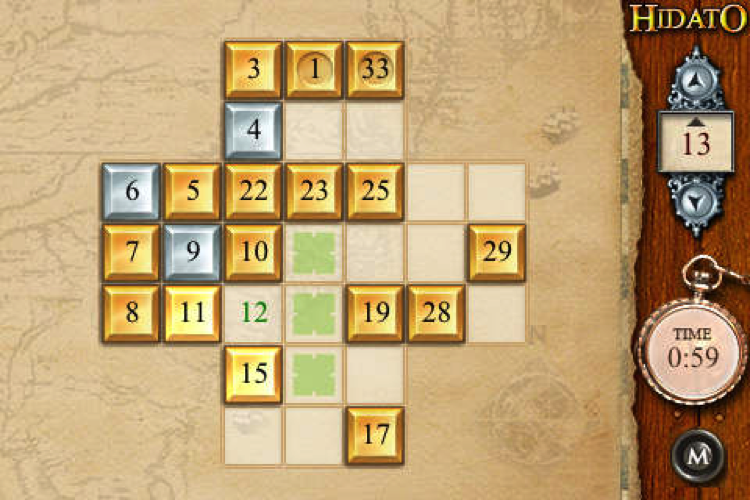 Découvrez Hidato, le nouveau sudoku gratuit