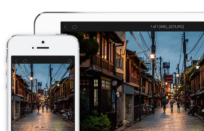 Le logiciel de retouche photo Lightroom en usage libre sur iOS