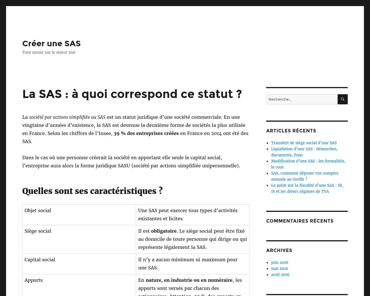 Entreprendre de créer une SAS