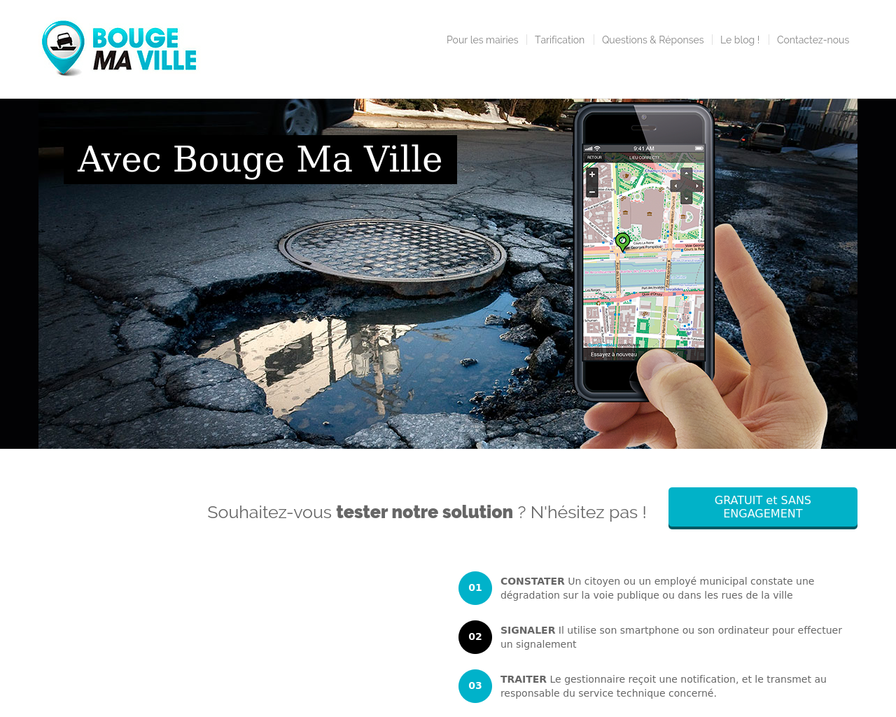 Une application Iphone pour le signalement des incidents de voirie