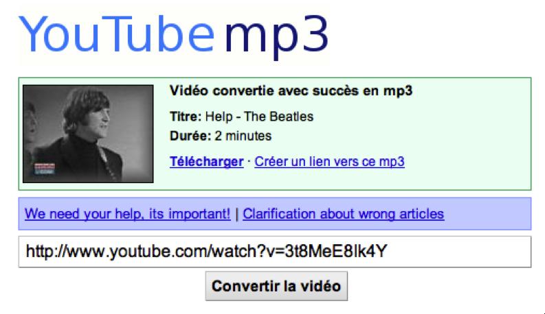 YouTube devient un lecteur de musique avec les convertisseurs vidéo